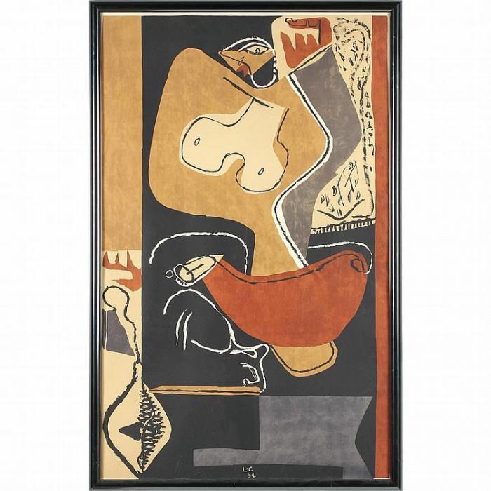 Le Corbusier-Femme a la Main Levee-1954
