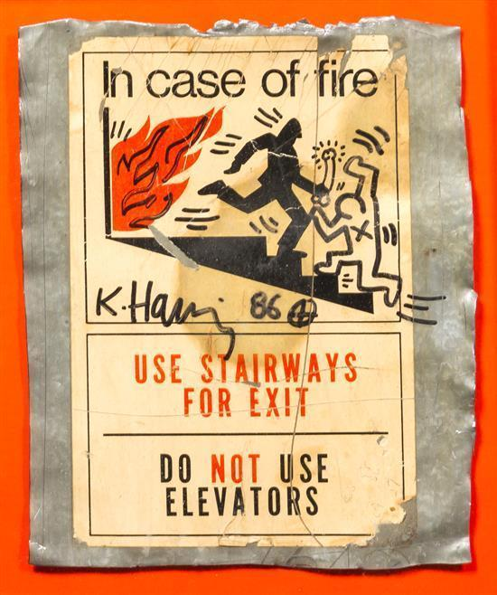 Keith Haring-Keith Haring - In Case of Fire-1986
