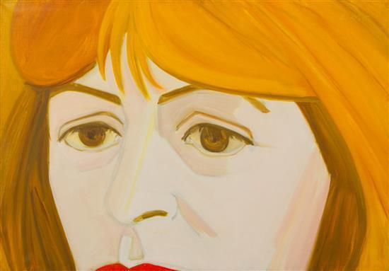 Alex Katz-Portrait of Elaine de Kooning-1965