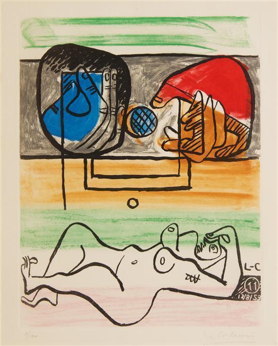Le Corbusier-Ohne Titel pl.11 (from Unite)-1953