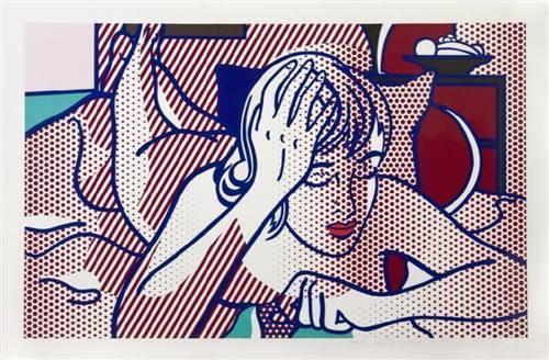Roy Lichtenstein-Thinking Nude, State I-1994