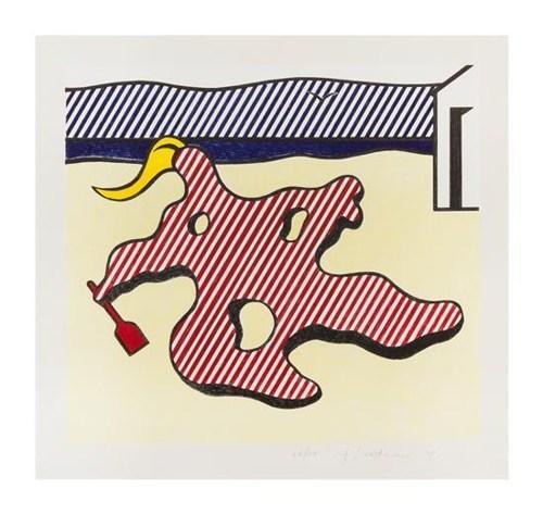 Roy Lichtenstein-Nude on Beach (from the Surrealist series)-1978