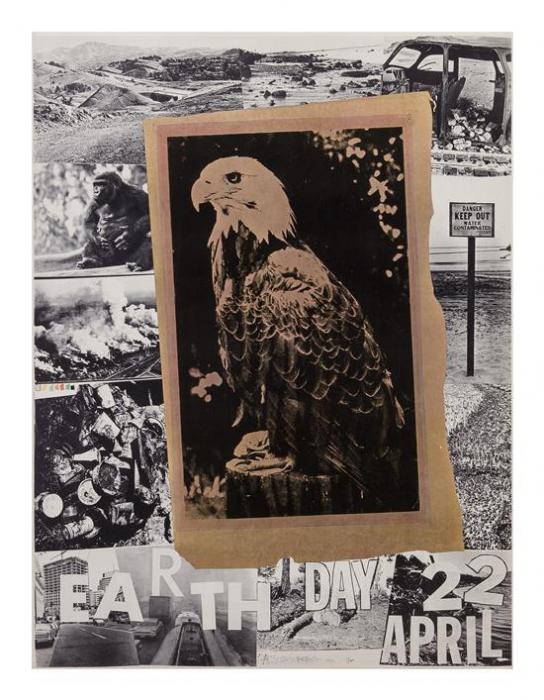 Robert Rauschenberg-Robert Rauschenberg - Earth Day April 22-1970