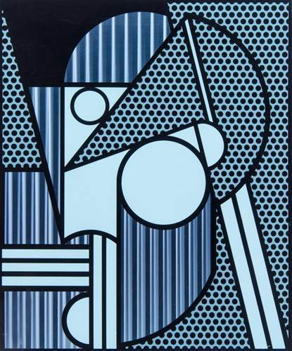 Roy Lichtenstein-Modern Head #4-1970