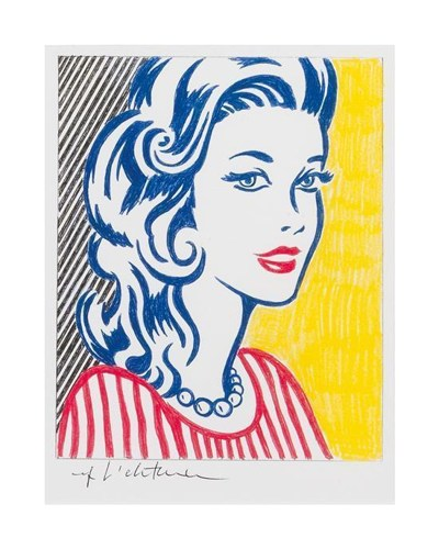 Roy Lichtenstein-Untitled (Girl)-