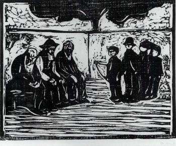 Edvard Munch-Gamle Menn og Gutter / Old Men and Boys / Alte Manner und Knaben (Woll no. 272 II)-1905