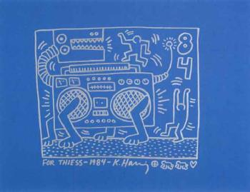 Keith Haring-Keith Haring - Radio Dog-1984
