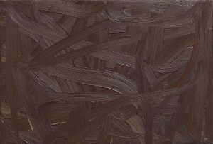 Gerhard Richter-Vermalung (Braun) / Inpainting (Brown) / Composition in brown-1972