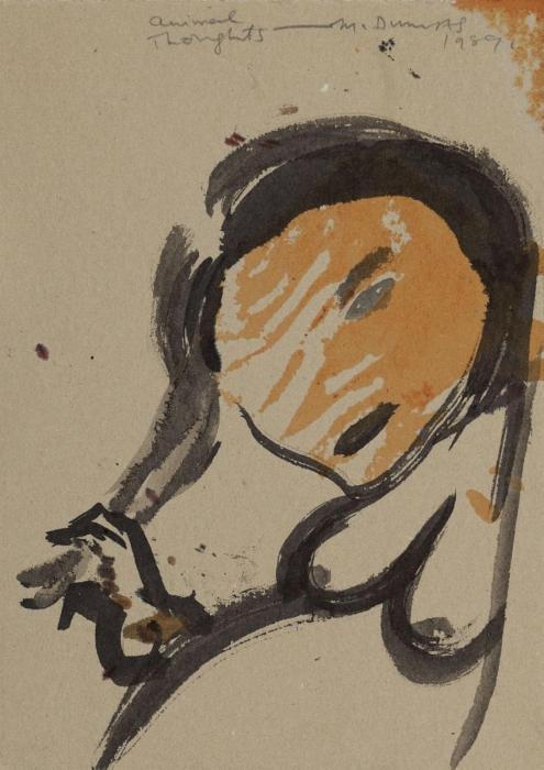 Marlene Dumas-Animal Thoughts-1989