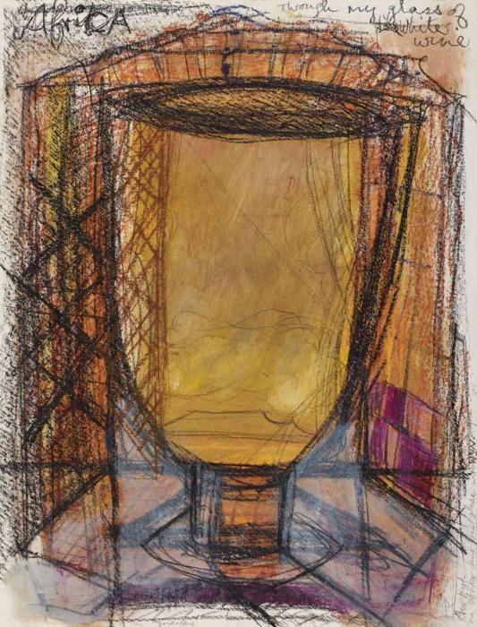 Marlene Dumas-Africa Through My Glassof White Wine-1989