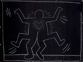 Keith Haring-Keith Haring - Subway Drawing-1985