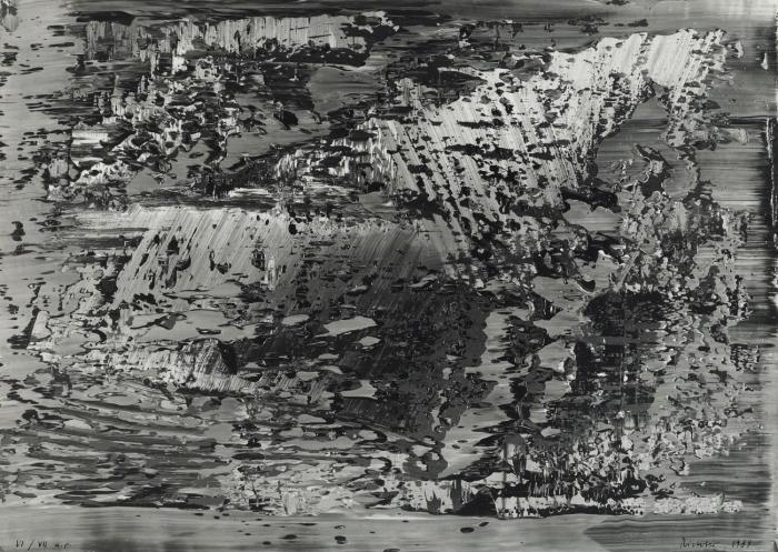 Gerhard Richter-Abstraktes Foto CR 69 (Abstract Photo CR 69)-1989