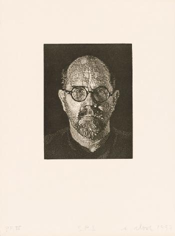 Chuck Close-S.P. I,II, III (Self Portrait)-1997