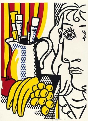 Roy Lichtenstein-Still life with Picasso-1973