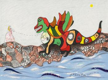 Niki de Saint Phalle-Ohne Titel (Strength Card No.11)-