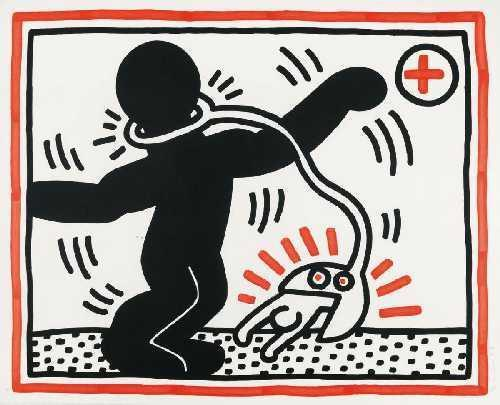 Keith Haring-Keith Haring - One plate, from Fre South Africa-1985