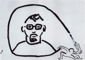 Keith Haring-Keith Haring - Self-Portrait-1988