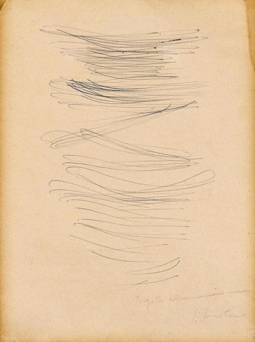 Lucio Fontana-Progetto illuminazione neon-1951