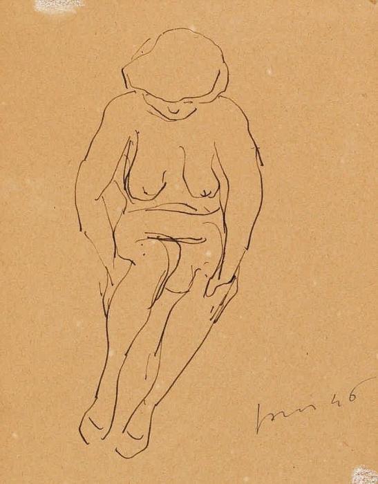 Lucio Fontana-Untitled (Nudo)-1946