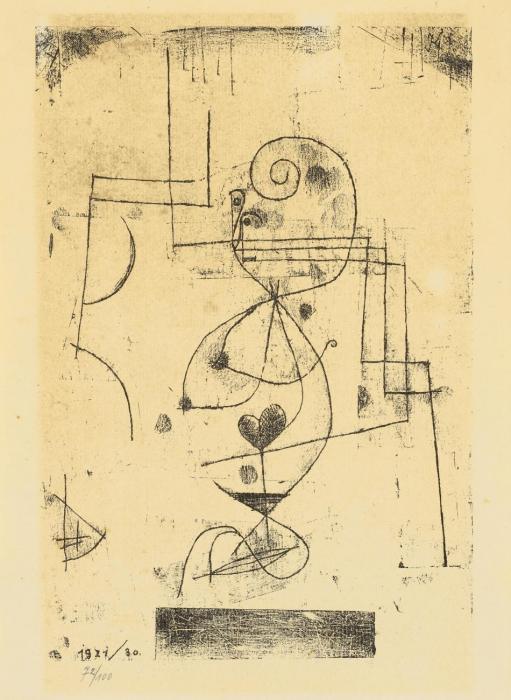 Paul Klee-Herz-Dame (Herzkonigin)-1921