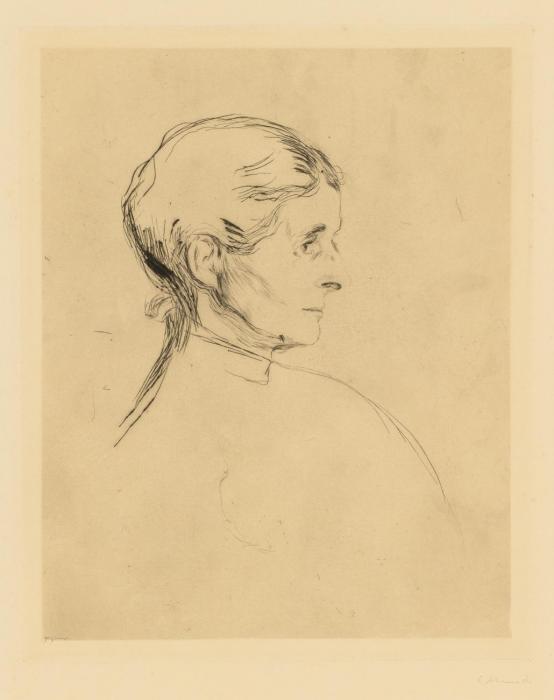 Edvard Munch-Ragnhild Heiberg (Woll 32 b; Schiefler 53)-1896