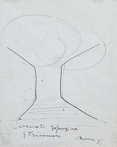 Lucio Fontana-Concetto spaziale - IX Triennale-1951