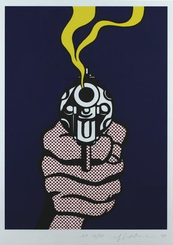 Roy Lichtenstein-The Guns in America-1989
