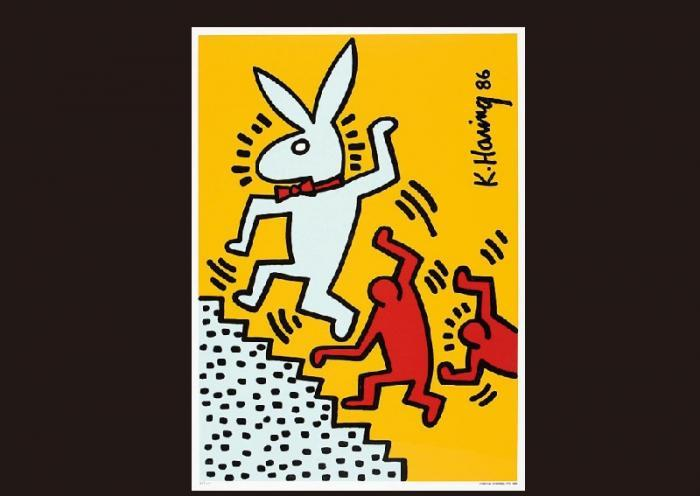 Keith Haring-Keith Haring - Dance with a rabbit-1986