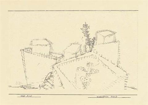 Paul Klee-Westostliches Dorf-1925