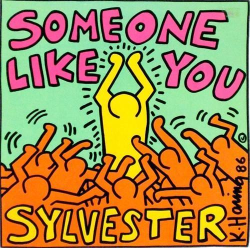 Keith Haring-Keith Haring - Keith Haring designed cover for Maxi single 'Someone like you ...-1988