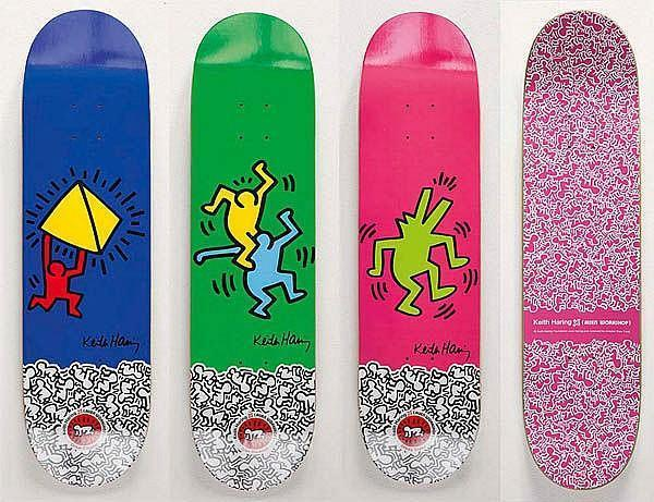 Keith Haring-Keith Haring - Iconic Collection Of Skateboards-