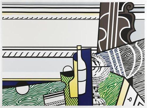 Roy Lichtenstein-Still life with crystal bowl-1976