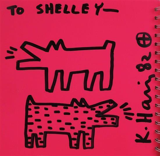 Keith Haring-Keith Haring - Two barking dogs-1982