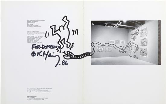 Keith Haring-Keith Haring - Drawing on exhibition catalogue-1986