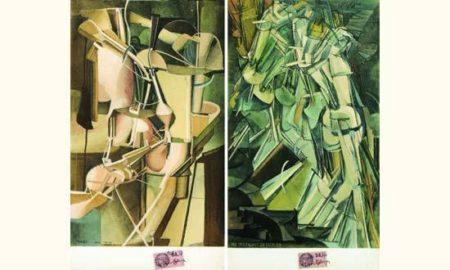 Marcel Duchamp-(i) Mariee; (ii) Nu descendant un escalier-1937