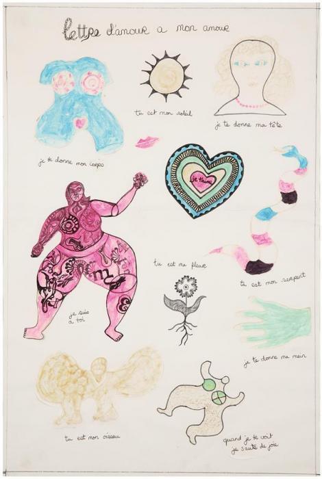 Niki de Saint Phalle-Lettre damour a mon amour-1968