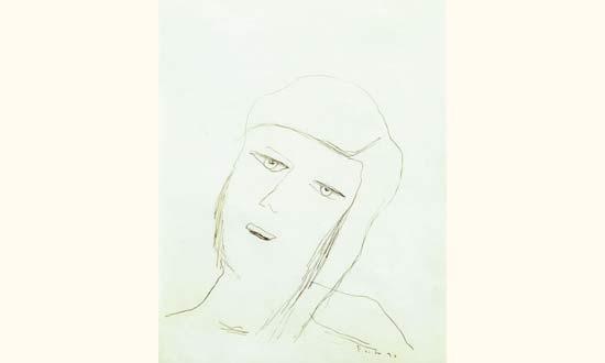 Lucio Fontana-Tete de femme-1936