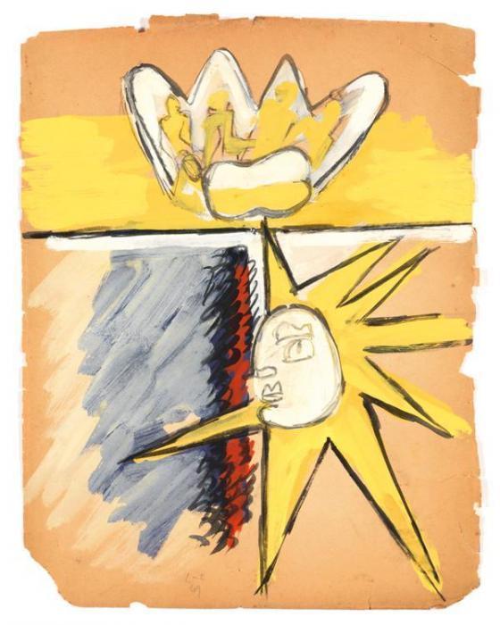 Le Corbusier-Main ouverte avec personnages-1949