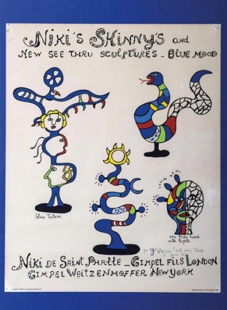 Niki de Saint Phalle-Niki's Skinny and New See Thru Sculptures Blue Mod-1982
