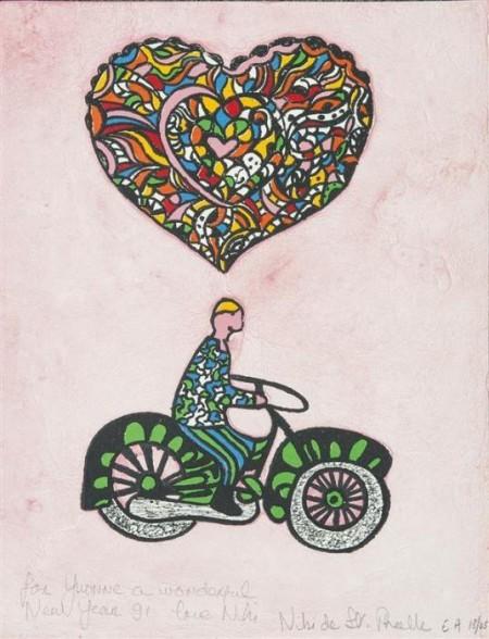 Niki de Saint Phalle-Motocyclette coeur-1990
