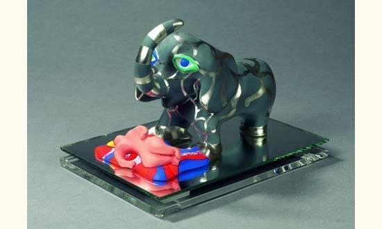 Niki de Saint Phalle-Nana et elephant, ( Elephant)-1985