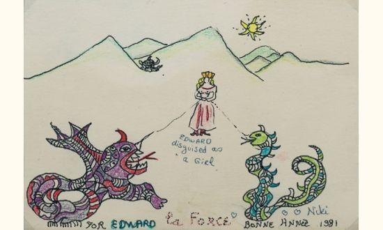 Niki de Saint Phalle-La force, (La Force, a New Year's Card)-1981