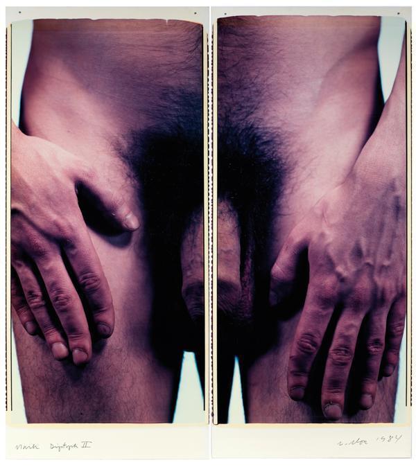 Chuck Close-Mark (Morrisroe) Diptych II-1984
