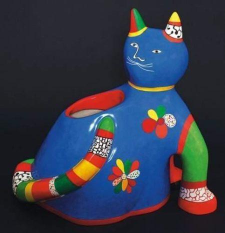 Niki de Saint Phalle-Chat, (Grand chat vase)-1991