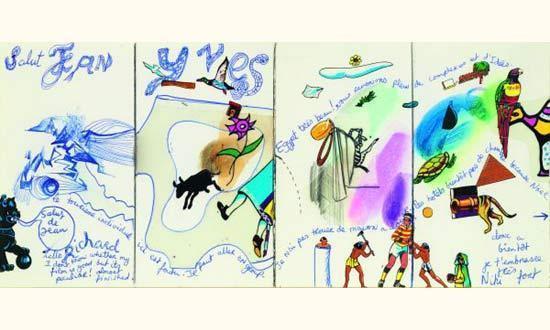 Niki de Saint Phalle-Letter from Egypt, (Egypt)-