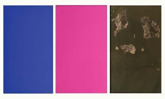 Yves Klein-Monochromes bleu, rose et or-1961