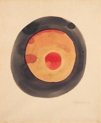 Lucio Fontana-Sans titre (Concetto Spaziale)-1949