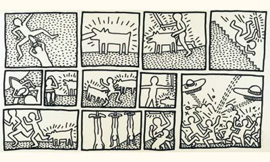 Keith Haring-Keith Haring - Blueprintdrawing-1990