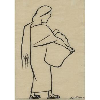 Diego Rivera-Woman with Basket-1941