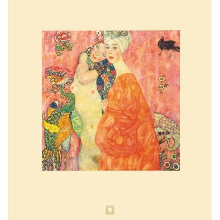 Gustav Klimt-Le Amiche, No. 1 (Girlfriends)-1931